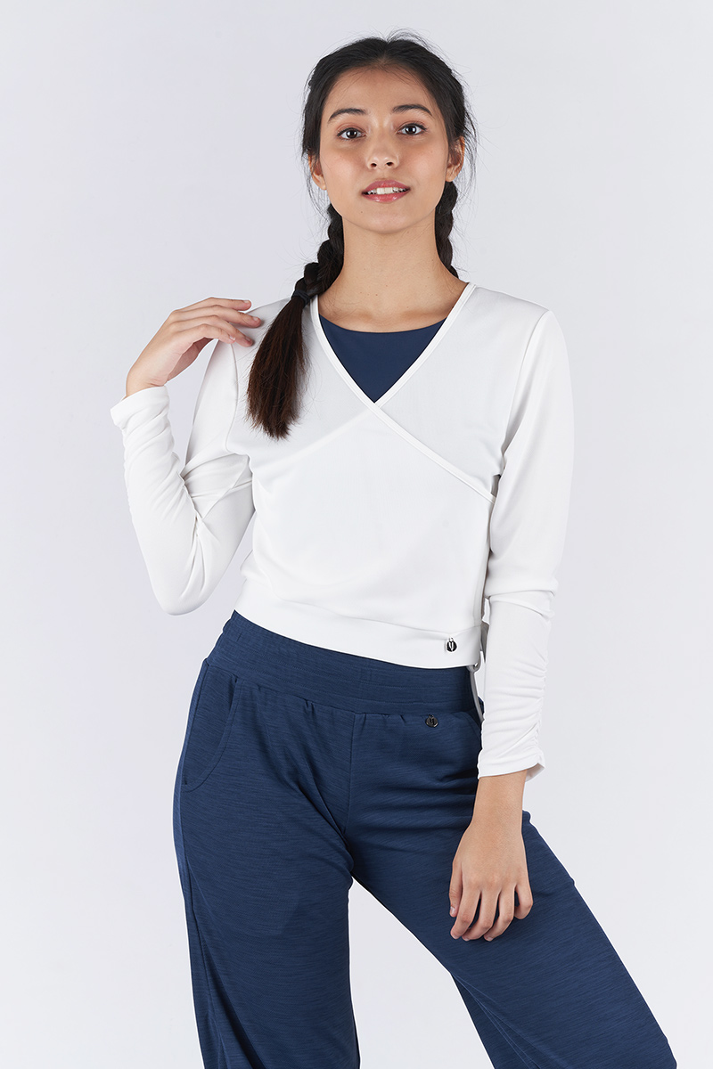 Ruched Out Wrap Top