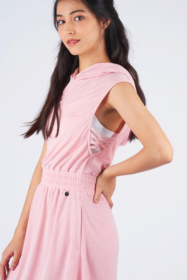Airy Flow Hoodie Dress